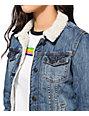 Thread & Supply Sherpa Collar Denim Jacket