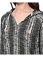 Trillium Archie Charcoal Stripe Hoodie