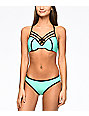 Trillium Colorblock Mint Moderate Hipster Bikini Bottom