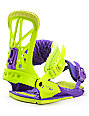Union Contact Pro Purple & Green Snowboard Bindings