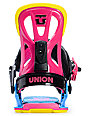 Union Flite Multi-Colored Snowboard Bindings