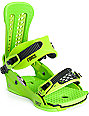 Union Force Snowboard Green Bindings