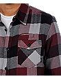 Vans AV Box Burgundy Flannel Shirt