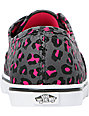 Vans Authentic Lo Pro Grey & Pink Leopard Print Shoes (Womens)