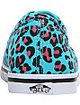 Vans Authentic Lo Pro Scuba & Pink Cheetah Print Shoes (Womens)
