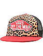 Vans Beach Leopard & Red Trucker Hat