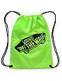 Vans Benched Neon Green Drawstring Bag