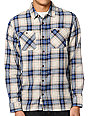 Vans Birch White & Blue Plaid Flannel Shirt