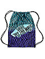 Vans Blue & Purple Zebra Print Drawstring Bag