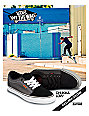 Vans Chukka Low Black Chambray, White & Orange Skate Shoes (Mens)