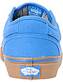 Vans Chukka Low Blue Canvas & Gum Skate Shoes (Mens)
