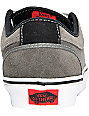 Vans Chukka Low Grey & Black Suede Skate Shoes (Mens)