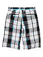 Vans Discrepancy White Plaid Shorts