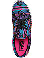 Vans Era Inca Black & Pink Tribal Print Skate Shoes