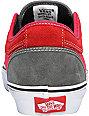 Vans Massimo Cavedoni Chukka Low Grey & Red Skate Shoes (Mens)