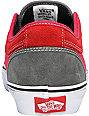 Vans Massimo Cavedoni Chukka Low Grey & Red Skate Shoes