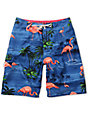 Vans OTW Blue Flamingo Blue Board Shorts