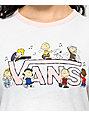 Vans X Peanuts White & Pink Ringer T-Shirt