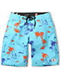 Volcom 45th St 21 Blue & Hawaiian Print Board Shorts