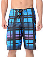 Volcom Armstrong Blue Plaid Board Shorts