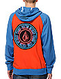 Volcom Band Orange & Blue Pullover Hoodie