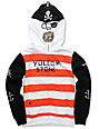 Volcom Boys Fear Pirate Red Full Zip Face Mask Hoodie