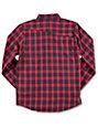 Volcom Boys Fulton Red Flannel Shirt