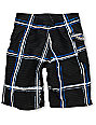 Volcom Boys Maguro Black & White Plaid Board Shorts