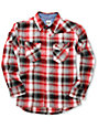 Volcom Boys Refract Red Flannel Shirt