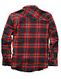 Volcom Boys Stave Red Plaid Flannel Shirt