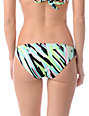 Volcom Break It Up Green Basic Bikini Bottom