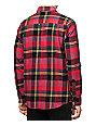 Volcom Caden Red & Black Flannel Shirt
