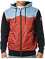 Volcom Cane Red, Blue & Charcoal Fleece Hoodie