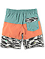 Volcom Chopped Riff Boys Sea Blue Board Shorts