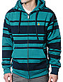 Volcom EDS Green Stripe Hydro Tech Fleece Jacket