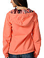 Volcom Enemy Lines Coral Orange Windbreaker Jacket