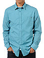 Volcom Ex Factor Blue Long Sleeve Button Up Shirt