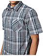 Volcom Ex Factor Grey Plaid Button Up Shirt