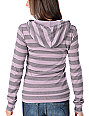 Volcom Get A Clue Wide Stripes Purple Pullover Hoodie