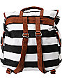 Volcom Girls Stone Stealer Black Striped Rucksack Backpack
