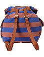 Volcom Girls Stone Stealer Striped Rucksack Backpack