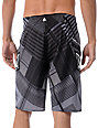 Volcom Gunshot Black Plaid 21 Board Shorts