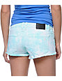 Volcom High Voltage Mint Tie Dye Cut Off Shorts