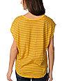 Volcom Hug Me Yellow Stripe Sleeveless Circle Shirt