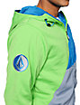 Volcom Johnny Green, Blue & Grey Tech Fleece Hooded Jacket