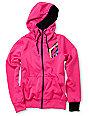 Volcom Jubaea Pink Full Zip Tech Fleece Jacket