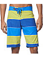 Volcom Maguro Blue Striped Board Shorts