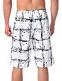 Volcom Maguro White Plaid Board Shorts