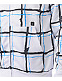 Volcom Maguro White Plaid Tech Fleece Jacket