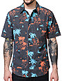 Volcom Mental Fun Black Short Sleeve Button Up Shirt